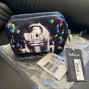 Kipling R2D2 ELIN Star Wars Double Zip Pouch Bag